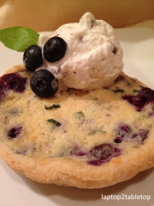 blueberry mascarpone and basil tarts