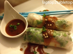 asian tofu spring rolls