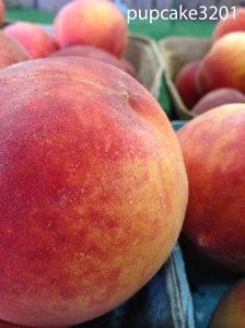 plump, juicy peach from our local farm