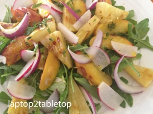 grilled peach and pineapple salad