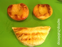 grilled peach and pineapple