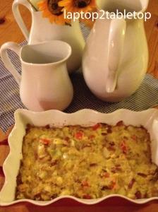 leek, potato and quinoa casserole