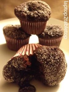 orange chocolate lava cupcake
