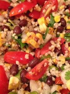 black bean, corn and millet