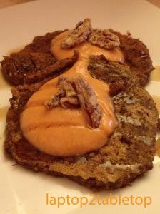 pumpkin quinoa pancakes with pumpkin tofu creme fraiche