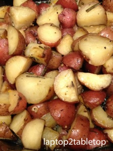 slow-cooked herbed roasted baby red potatoes