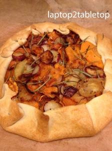 savory sweet potato and rosemary rustic tart