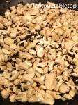 toasting cashews and black sesame seeds