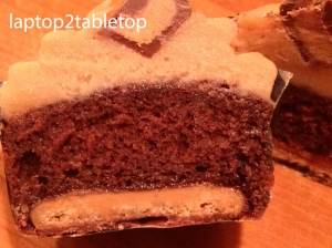 inside the tagalong cupcake