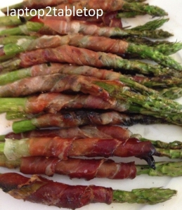 grilled speck-wrapped asparagus