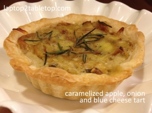 caramelized apple onion blue cheese tart