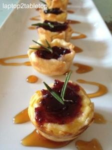 mini blackberry goat cheese tartlets
