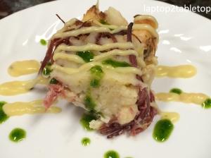 reuben bread pudding square