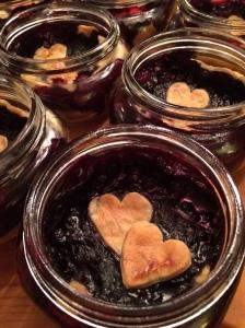 mason jar blueberry basil pie