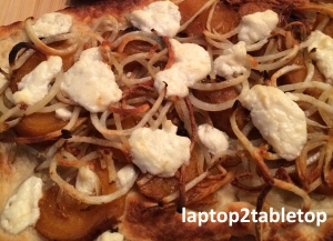 potato beet and goat cheese pizza