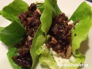 cherry quinoa butter lettuce tacos