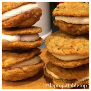 carrot cake cookie whoopie pies