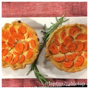 roasted carrot tart
