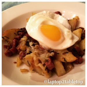 pan-fried corned beef hash