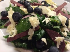 kale beet and blueberry