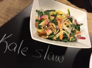 kale radish and carrot slaw