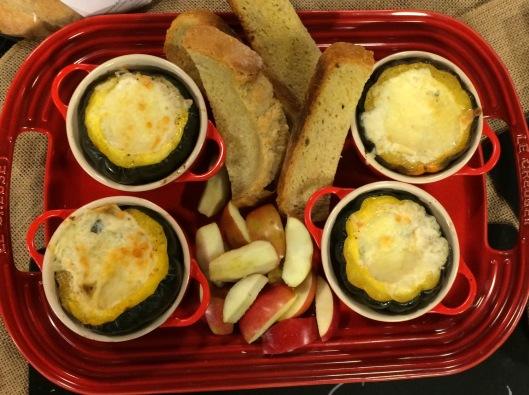 Acorn squash fondue